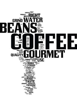 グルメ コーヒー豆テキスト背景単語雲概念  イラスト・ベクター素材