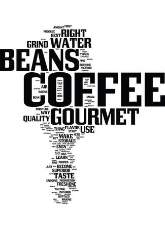 GOURMET COFFEE BEANS Text Background Word Cloud Concept