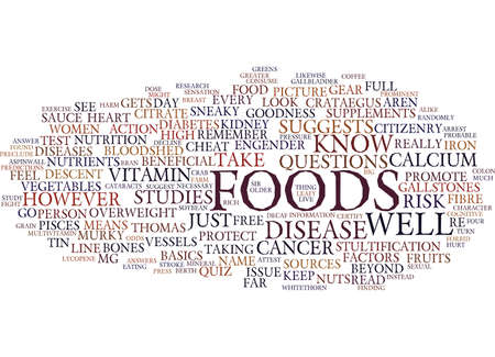 食品と戦う病テキスト背景単語雲概念