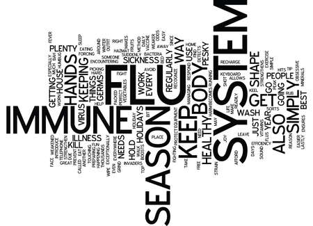 strengthen: FLU SEASON BAH HUMBUG NO FLU FOR YOU Text Background Word Cloud Concept