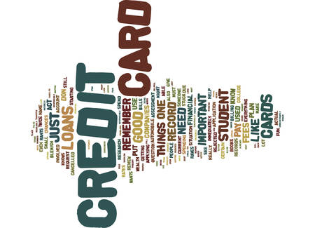 FOR CREDIT CARD ROOKIES Text Background Word Cloud Concept