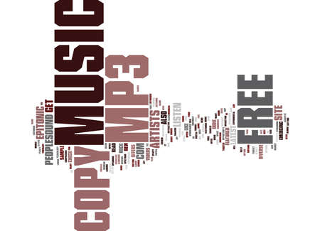 FREE COPY OF MP MUSIC Text Background Word Cloud Concept
