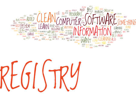 FIX YOUR COMPUTER HOW TO CLEAN REGISTRY Text Background Word Cloud Concept