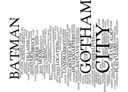 differed: GOTHAM CITY Text Background Word Cloud Concept