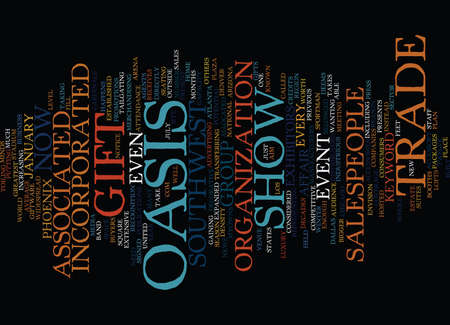 GIFT TRADE SHOW Text Background Word Cloud Concept
