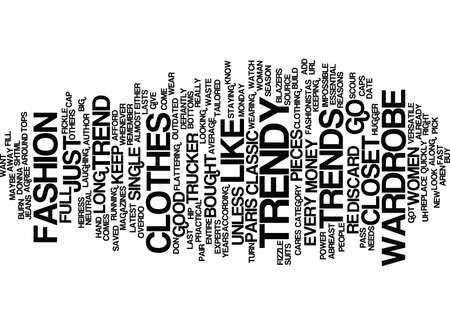 GOT A CLOSET FULL OF TRENDY CLOTHES WATCH OUT Text Background Word Cloud Concept