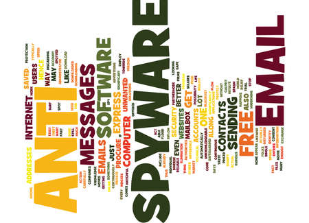 better: FREE ANTI SPYWARE Text Background Word Cloud Concept Illustration