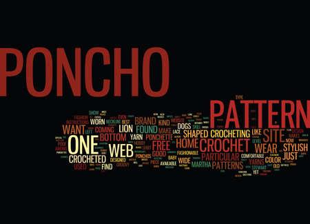 FREE CROCHET PONCHO PATTERNS Text Background Word Cloud Concept 版權商用圖片 - 82609490