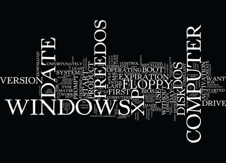 FREEDOS Text Background Word Cloud Concept
