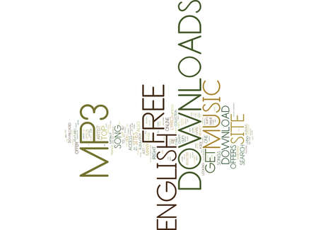 FREE ENGLISH MP DOWNLOADS Text Background Word Cloud Concept Illustration