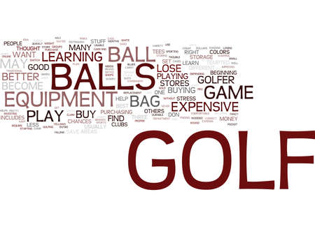 GOLF STUFF TO KEEP IN YOUR BAG Text Background Word Cloud Concept