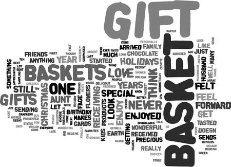 GIFT BASKET HEAVEN Text Background Word Cloud Concept