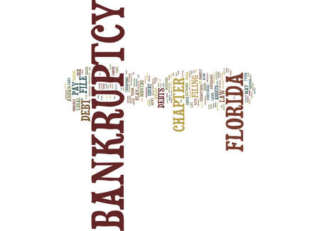 FLORIDA BANKRUPTCY Text Background Word Cloud Concept