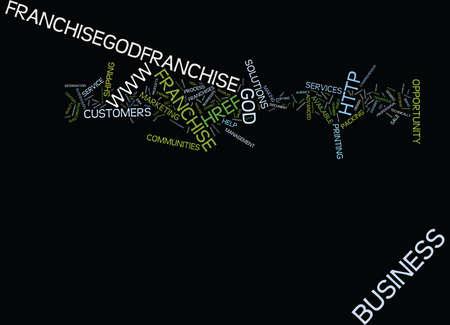 enables: FRANCHISEGODCOM Text Background Word Cloud Concept Illustration