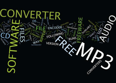 FREE MP CONVERTER Text Background Word Cloud Concept