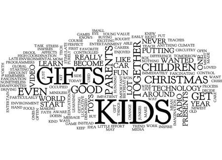 GIFTS FOR KIDS Text Background Word Cloud Concept