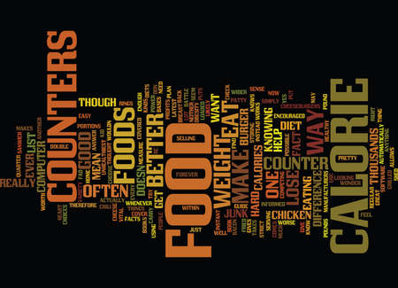 FOOD CALORIE COUNTERS Text Background Word Cloud Concept Illustration