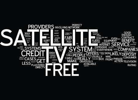 FREE SATELLITE TV OFFERS Text Background Word Cloud Concept