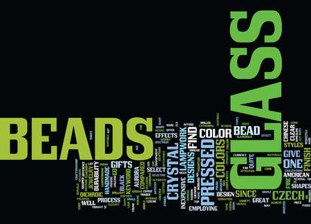 GLASS BEADS Text Background Word Cloud Concept