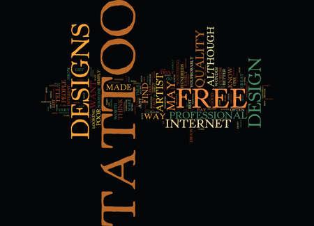 GRATIS TATTOO-ONTWERPEN Tekstachtergrond Word Cloud Concept