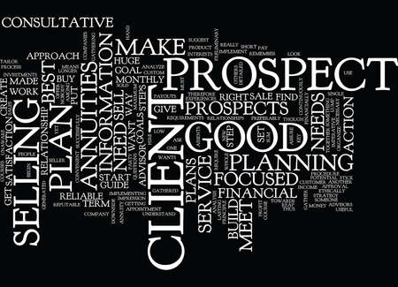 FORMULA TO SELL ANNUITIES Text Background Word Cloud Concept Illustration
