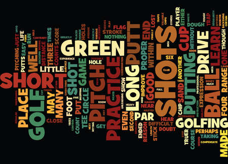 GOLF THE SHORT SHORT GAME Text Background Word Cloud Concept