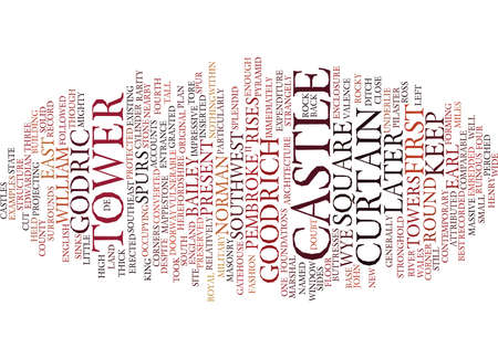 comparable: GOODRICH CASTLE Text Background Word Cloud Concept