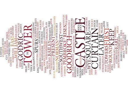 GOODRICH CASTLE Text Background Word Cloud Concept