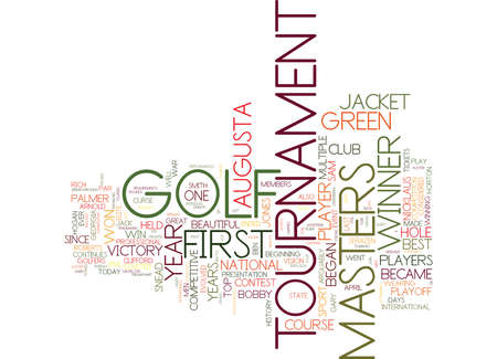 GOLF AT ITS BEST Text Background Word Cloud Concept