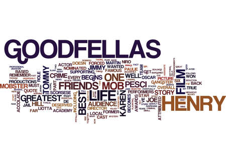 GOODFELLAS DVD REVIEW Text Background Word Cloud Concept