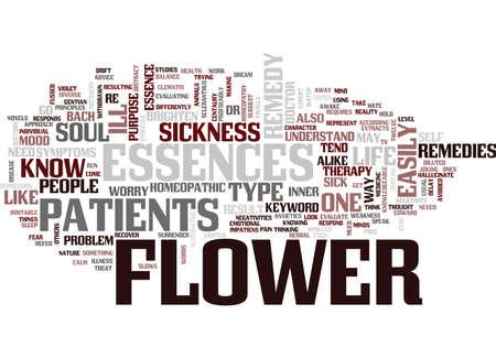 homeopathic: FLOWER ESSENCES Text Background Word Cloud Concept