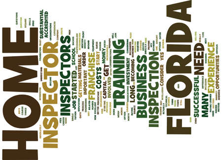 expenses: FLORIDA HOME INSPECTOR Text Background Word Cloud Concept