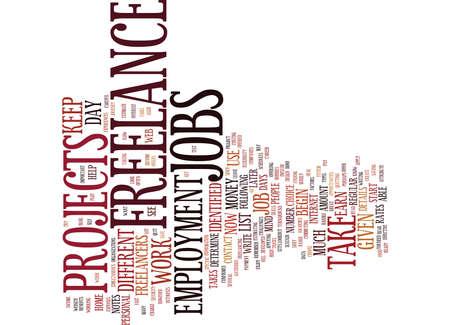 FREELANCE EMPLOYMENT Text Background Word Cloud Concept