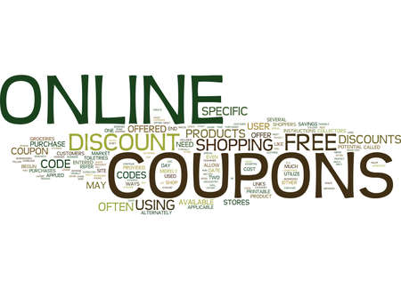 reach customers: FREE ONLINE COUPONS Text Background Word Cloud Concept