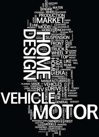GET YOUR OWN COLLECTIBLE MOTOR HOME Text Background Word Cloud Concept