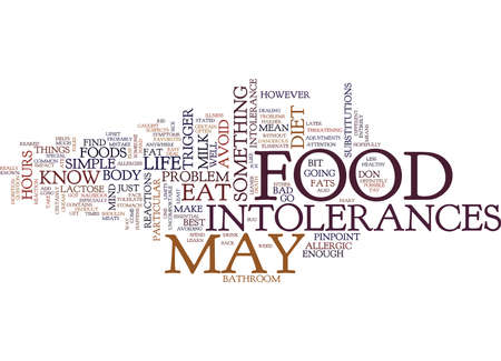 FOOD INTOLERANCES Text Background Word Cloud Concept