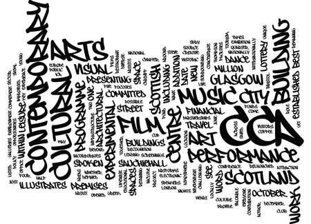 現代美術テキスト背景単語クラウドの概念はグラスゴー センター
