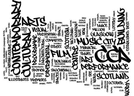 GLASGOW CENTRE FOR CONTEMPORARY ARTS Text Background Word Cloud Concept