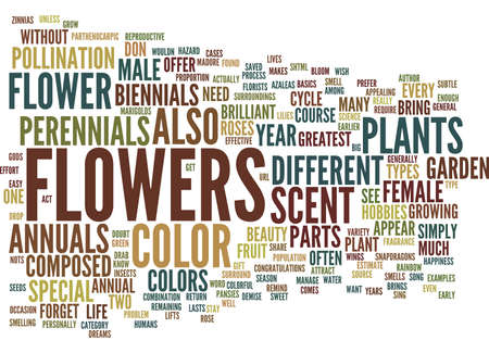 FLOWERS AN ANNUAL EVENT Text Background Word Cloud Concept