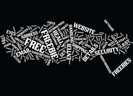 FREEBIE TRICKS Text Background Word Cloud Concept Illustration