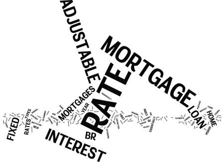 FIXED RATE MORTGAGE Text Background Word Cloud Concept