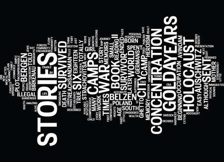 GOLDA S STORIES OF THE HOLOCAUST Text Background Word Cloud Concept