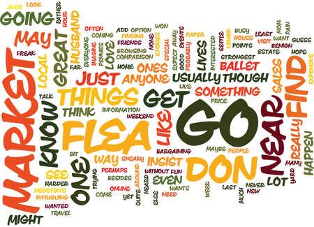 FLEA MARKET Text Background Word Cloud Concept Stock Vector - 82610633