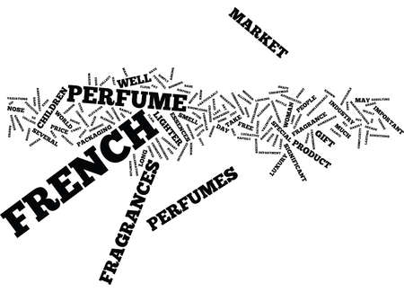 endear: FRENCH PERFUMES Text Background Word Cloud Concept