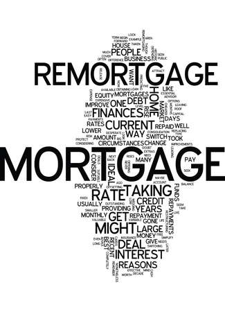 Five reason to consider a REMORTGAGE - Word Cloud Concept Stock Vector - 82667590