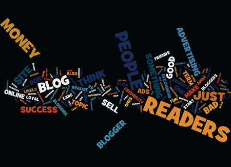 GOOD VS BAD BLOGGER Text Background Word Cloud Concept