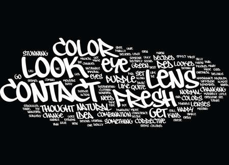 FRESH LOOK CONTACT LENS Text Background Word Cloud Concept