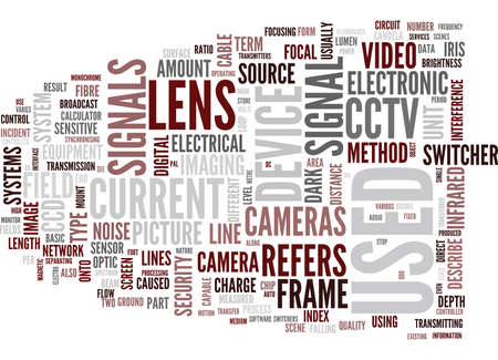 GLOSSARY OF TERMS D L CCTV Text Background Word Cloud Concept Ilustrace
