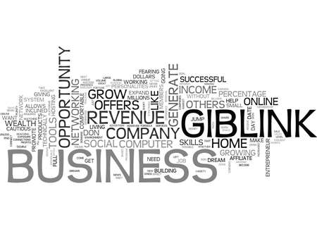 GIBLINK OFFERS ONLINE WEALTH NO SKILLS REQUIRED Text Background Word Cloud Concept