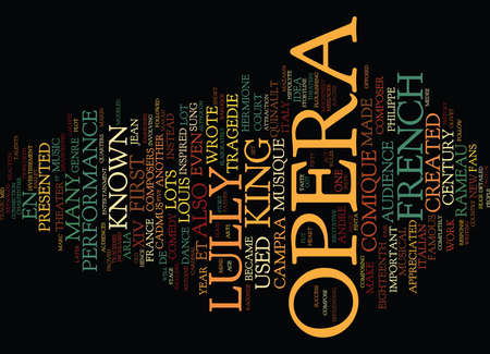 FRENCH OPERA Text Background Word Cloud Concept